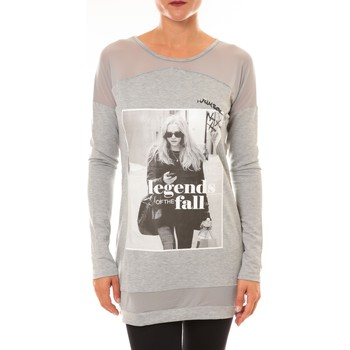 Abbigliamento Donna Maglioni La Vitrine De La Mode Tee Shirt Manches Longues Sweat MC1919 gris Grigio