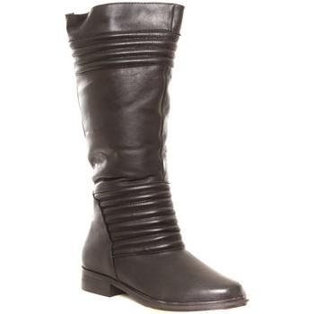 Scarpe Donna Stivali da pioggia Cassis Côte d'Azur Ilario Ferucci Bottes en cuir Galeane noir Nero
