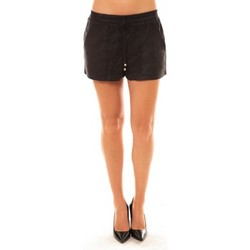 Abbigliamento Donna Shorts / Bermuda La Vitrine De La Mode By La Vitrine Short Y536 noir Nero