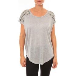 Abbigliamento Donna T-shirt maniche corte La Vitrine De La Mode By La Vitrine Top C2163 gris Grigio