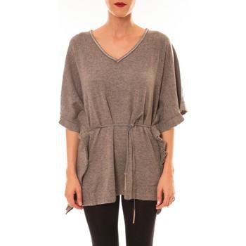 Abbigliamento Donna T-shirt maniche corte La Vitrine De La Mode By La Vitrine Pull MC3120 gris foncé Grigio