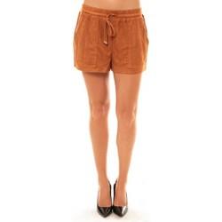 Abbigliamento Donna Shorts / Bermuda La Vitrine De La Mode By La Vitrine Short Y536 camel Marrone