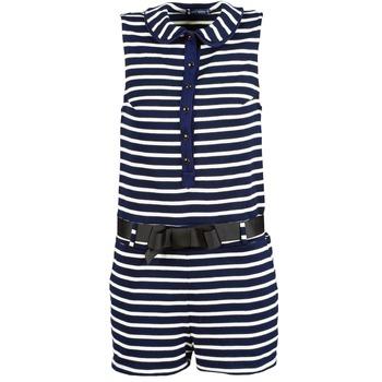 Abbigliamento Donna Tuta jumpsuit / Salopette Petit Bateau FAITOUT MARINE / Bianco