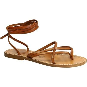 Scarpe Donna Sandali Gianluca - L'artigiano Del Cuoio Sandali alla schiava donna artigianali in pelle antico Cuoio