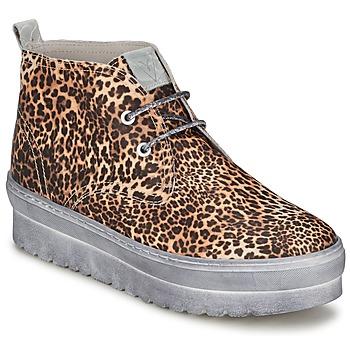 Scarpe Donna Sneakers alte Ylati BAIA F Leopard