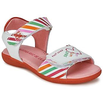Scarpe Bambina Sandali Agatha Ruiz de la Prada CAZOLETA Bianco / Multicolore