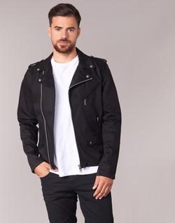 Abbigliamento Uomo Giacche in jeans Schott JOHN Nero