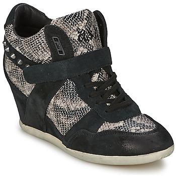 Scarpe Donna Sneakers alte Ash BISOU Nero / Python