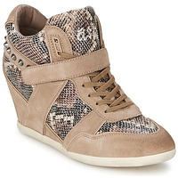 Scarpe Donna Sneakers alte Ash BISOU Taupe / Python