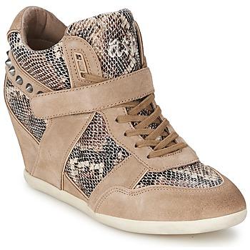Scarpe Donna Sneakers alte Ash BISOU Taupe / Python