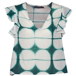 Abbigliamento Donna T-shirt maniche corte Antik Batik BAB Bianco / Verde
