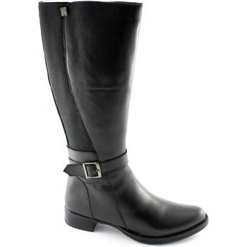 Stivali Cinzia Soft  2838 nero scarpe donna stivale pelle elasticizzato