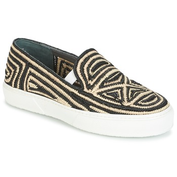 Scarpe Donna Slip on Robert Clergerie TRIBAL Nero / Beige