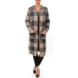 Abbigliamento Donna Gilet / Cardigan De Fil En Aiguille Cardigan long K100 marron Marrone