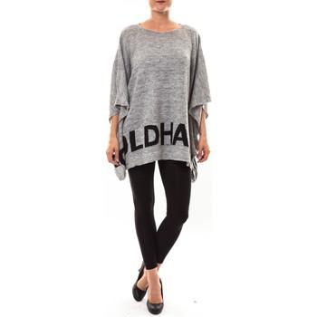 Abbigliamento Donna Maglioni De Fil En Aiguille Poncho DH3122 gris Grigio