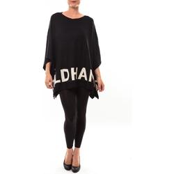 Abbigliamento Donna Maglioni De Fil En Aiguille Poncho DH3122 noir Nero