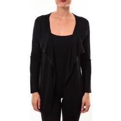 Abbigliamento Donna Maglioni De Fil En Aiguille gilet 2020 noir Nero