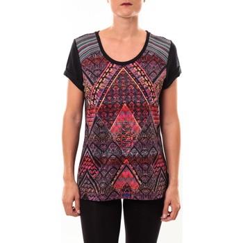 Abbigliamento Donna T-shirt maniche corte Custo Barcelona Top Luzio Newark multicouleurs Multicolore