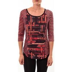 Abbigliamento Donna T-shirts a maniche lunghe Custo Barcelona Top Eleon rouge Rosso