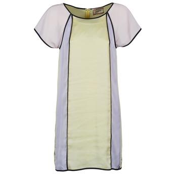 Abbigliamento Donna Abiti corti Chipie FREGENAL Giallo / Grigio