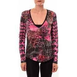 Abbigliamento Donna T-shirts a maniche lunghe Custo Barcelona Top Bambi Luxurious rose Rosa