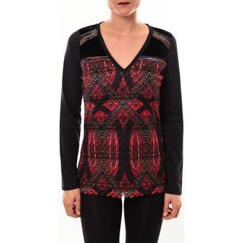Abbigliamento Donna T-shirts a maniche lunghe Custo Barcelona Top Bambi Sweek noir Nero