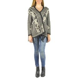 Abbigliamento Donna Gilet / Cardigan Barcelona Moda Gilet en laine 71171502 noir Nero