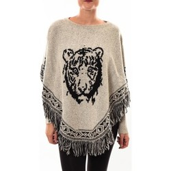 Abbigliamento Donna Gilet / Cardigan Barcelona Moda Poncho 73017004 gris Grigio