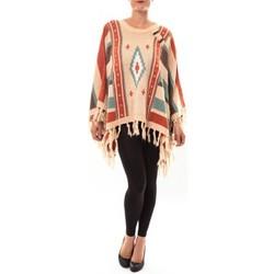 Abbigliamento Donna Maglioni Barcelona Moda Poncho 72473601 beige Beige