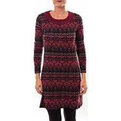 Abbigliamento Donna Tuniche Barcelona Moda Robe pull 71565011 bordeaux Rosso