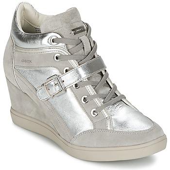 Scarpe Donna Sneakers alte Geox ELENI C Argento