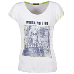 Abbigliamento Donna T-shirt maniche corte La City TMCD3 Bianco