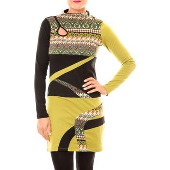 Abbigliamento Donna Abiti corti Bamboo's Fashion Robe Tribal BW622 vert Verde