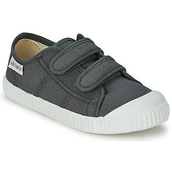 Scarpe Bambino Sneakers basse Victoria BLUCHER LONA DOS VELCROS Antracite
