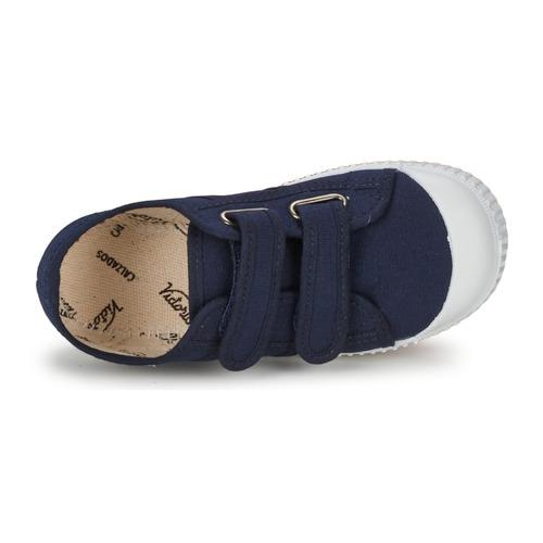 Victoria Blucher Lona Dos Velcros Marine - Consegna Gratuita- Scarpe Sneakers Basse Bambino 2800