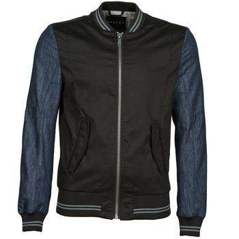 Abbigliamento Uomo Giubbotti Sisley 2ID2533A9 Nero / Blu