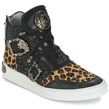 Scarpe Donna Sneakers alte New Rock ANTERLO Leopard