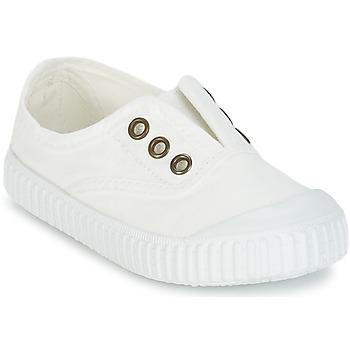 Scarpe Bambino Sneakers basse Victoria INGLESA LONA TINTADA Bianco