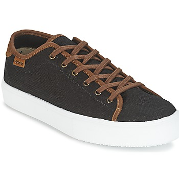 Scarpe Uomo Sneakers basse Victoria BASKET LINO DETALLE MARRON Nero / Marrone