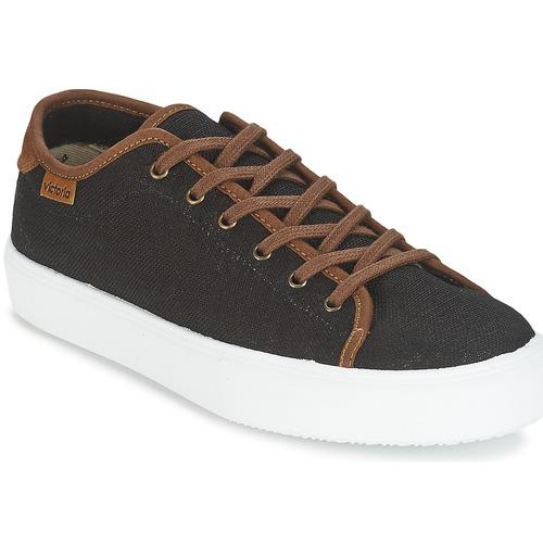Victoria BASKET LINO DETALLE MARRON Nero Sneakers / Marrone  Scarpe Sneakers Nero basse Uomo 41,30 b40ad5