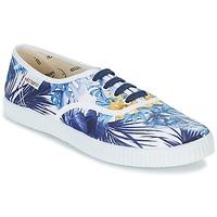 Scarpe Donna Sneakers basse Victoria INGLES FLORES Y CORAZONES Bianco / Blu