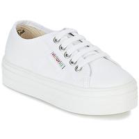 Scarpe Bambina Sneakers basse Victoria BASKET LONA PLATAFORMA KIDS Bianco
