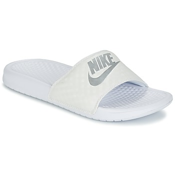Scarpe Donna ciabatte Nike BENASSI JUST DO IT W Bianco / Argento