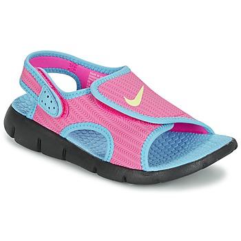 Scarpe Bambina Sandali Nike SUNRAY ADJUST 4 Rosa / Blu