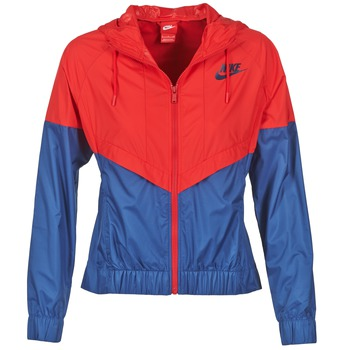 Abbigliamento Donna giacca a vento Nike WINDRUNNER MARINE / Rosso