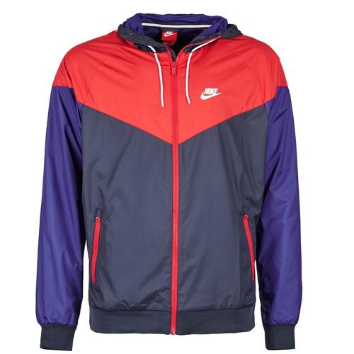 Abbigliamento Uomo giacca a vento Nike WINDRUNNER MARINE / Rosso / Blu