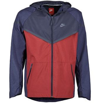 Abbigliamento Uomo giacca a vento Nike TECH WINDRUNNER Rosso / MARINE / Grigio