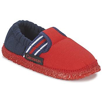 Scarpe Bambino Pantofole Giesswein AICHACH Rosso / Marine