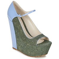 Scarpe Donna Décolleté John Galliano S54261 Blu / Verde