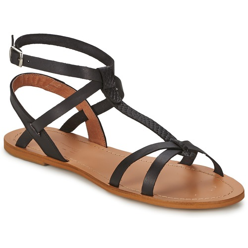 So Size BEALO Nero  Scarpe Sandali Donna 42